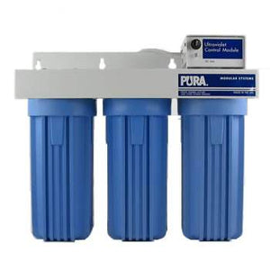 Pura UV- UVB3-EPCB-GC-SD 0.5 Micron Carbon Block-GAC-5 Micron Sediment Drinking Filter 2 GPM