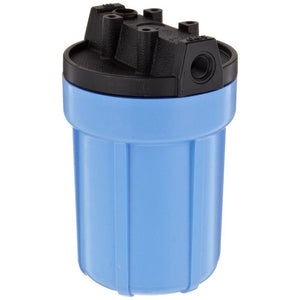 "Pentek - Slim Line 5"" Filter  Housing - Black Cap / Blue Sump"
