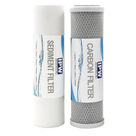 Compatible 1 Year Replacement PL-3000 Filter Kit for PuroLine PL30C16 Three Stage RO System (Membrane Not Included)
