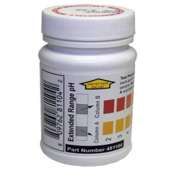 Sensafe (481104) Extended Range pH Check; Bottle of 50 Test Strips