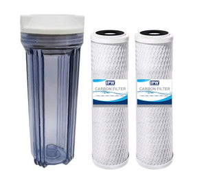 Compatible to Water Pur Company CCI-10CLW12 Filter Canister and (2) CCI-10-Ca Water Filters by IPW Industries Inc