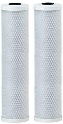 Big Blue Coconut Shell Water Filter Cartridge | Activated Carbon Block CTO | Universal Whole House 5 Micron 20 inch Cartridge | Compatible with EPM-20BB, 155783-4 - Pack of 2 by IPW Industries Inc.
