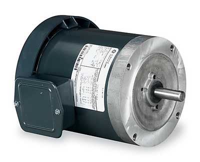 Marathon Electric (K256) GE NEMA 56C Frame Bolt-on Motor,TEFC 1 HP; 3-Phase; 208-230-460V