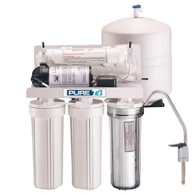 PureT (RO5-50-WP) 5 Stage Reverse Osmosis System 50 GPD w- Booster Pump