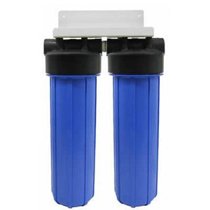 "Isopure Water (ISO-WH2-20B) Dual Stage 20"" Big Blue Boy Whole House Filter"