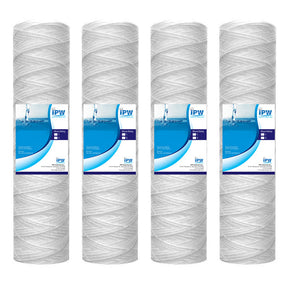 Compatible for WFPFC4002, Universal Whole House String Wound Filtration Kit Pack of 4 Pack