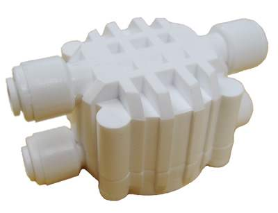 GWW (ASV4000Q) Auto Shut Off Valve with Quick Connect Fittings White