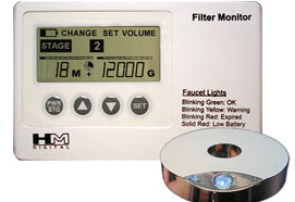 HM Digital (FM-2) Filter Monitor w- Flow Sensor and Volumizer