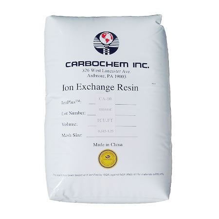 CarbonChem (IONPLUS CA-10) Water Softening Resin 8% CrossLink - 1 Cubic Foot Bag