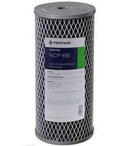 "Pentek - NCP-BB - 10"" x 4.5"" Big Blue Pleated Carbon-Impregnated Polyproplyene Filter"