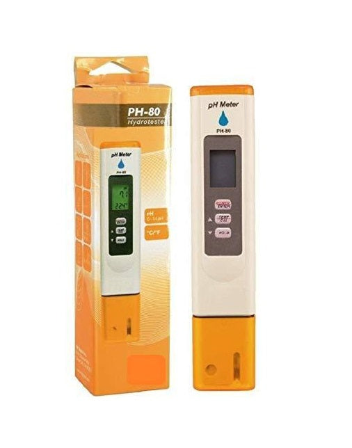 HM Digital (PH-80)  HydroTester Water pH Temperature Tester Meter Pen