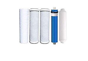Compatible Filters for the Puroline PL-5000 Reverse Osmosis System Set of 5 w- 50 GPD Membrane by IPW Industries Inc