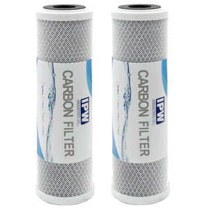 Pack of 2 Universal Carbon Replacement Water Household Filter by IPW Industries Inc.