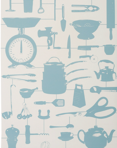 Airfix Kitchen Wallpaper in Duck Egg