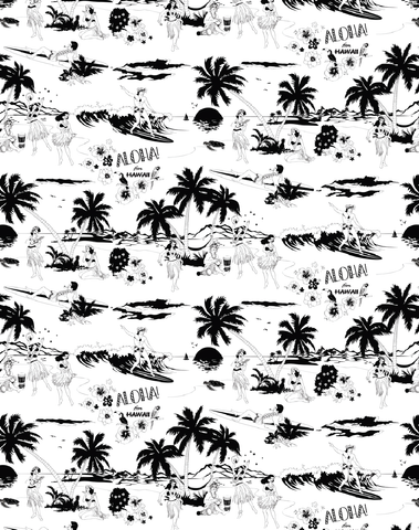 Aloha! Wallpaper Black & White