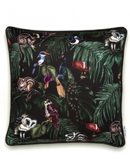 Amazonia Dark Small Cotton Cushion