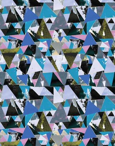 Antique & Blue Triangle Wallpaper