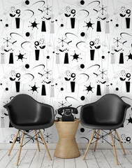 Atomic Wallpaper, Black & White