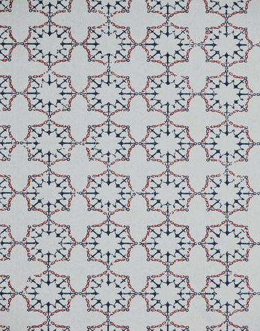 Anchor Tile, Red White & Blue
