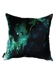 17 Patterns Beyond Nebulous Green & Blue Cushion