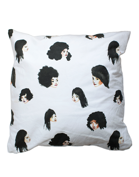 Bethany Eden Black Hair Pillow