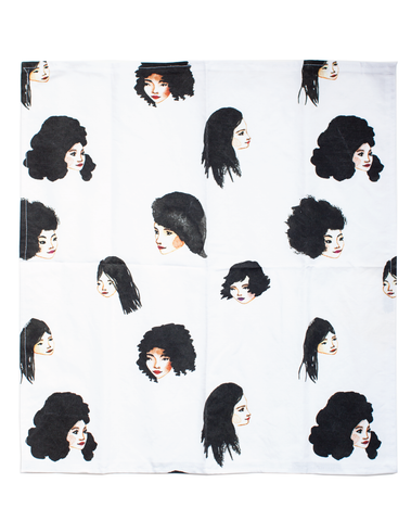 Bethany Eden Black Hair Tea Towel
