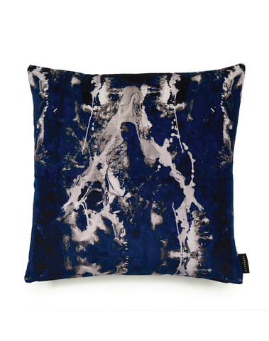 17 Patterns Blotto Navy Cushion