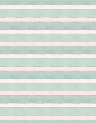 Cabana Stripe No. 15, Seaglass