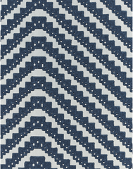 Chevron, Ink Blue