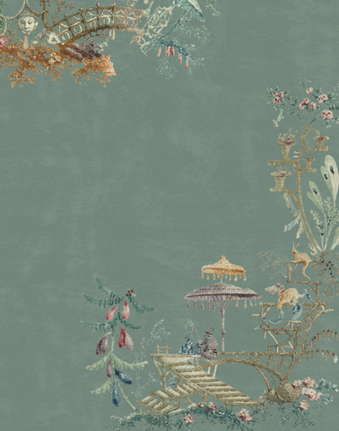 Chinoiserie, Blue