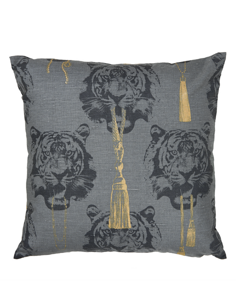 Coco Tiger Gray Cushion Cover