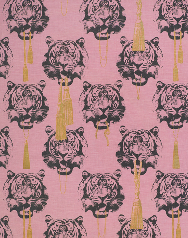 Coco Tiger Fabric, Pink