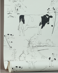 Countryside Toile, Optic White