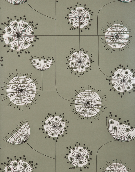 Dandelion Mobile, French Grey with White