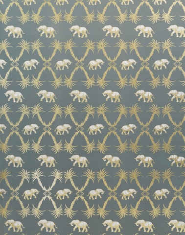 Elephant Palm, Gunmetal/Gold