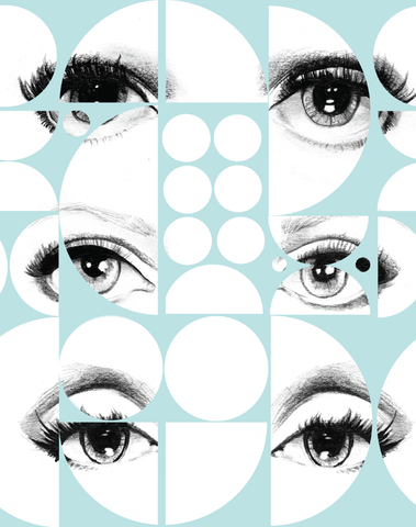 Eyes and Circles, Blue