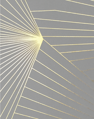 Fan, Gold & Zinc Grey