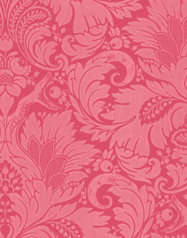 Fearless Cheeky Pink Damask