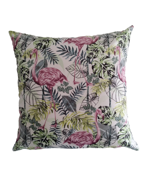 Charlotte Jade Tropical Flora Cushion Cover