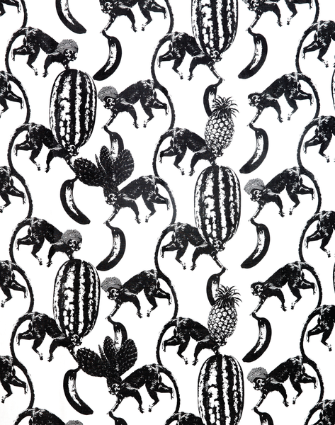 Funky Monkey Fabric, Black