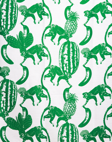 Funky Monkey Fabric, Green