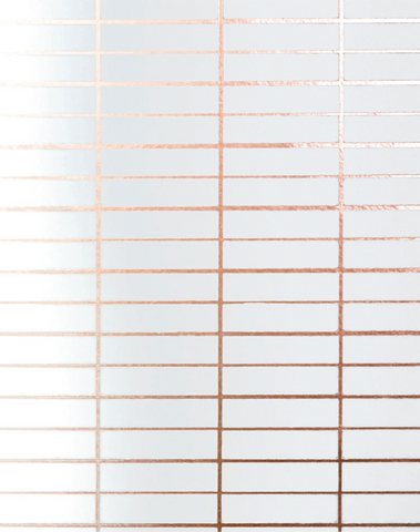 Grid, Copper Rose & White