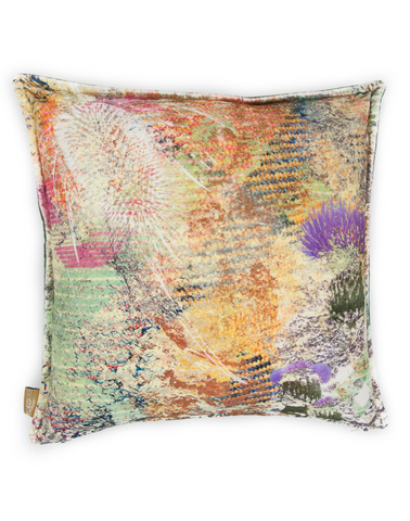 Mairi Helena Harris Green Thistle Cushion Cover