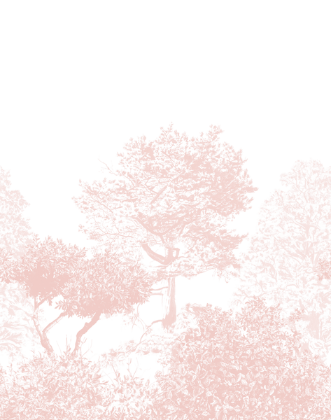 Hua Trees Mural Pink The Pattern Collective