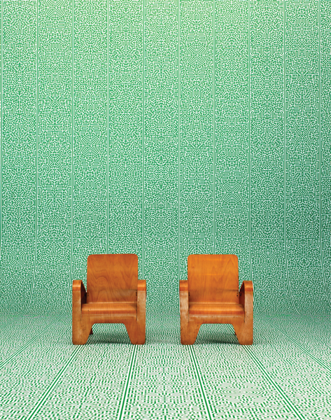 JOB-02 Industry Labyrinth Wallpaper by Studio Job