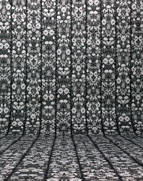 JOB-06 Withered Flowers Black Wallpaper by Studio Job