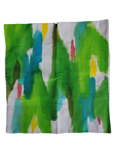 Julie Kay Hand Painted Watercolor Pillow Cover, Florida Greens