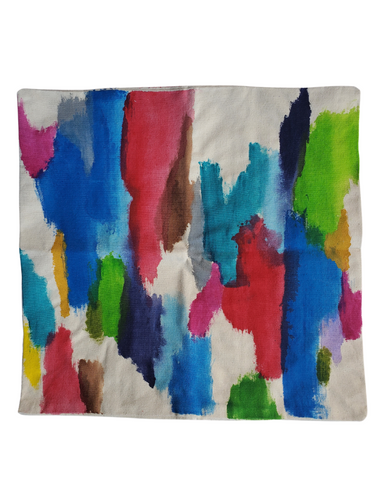 Julie Kay Hand Painted Watercolor Pillow Cover, Multi Colored