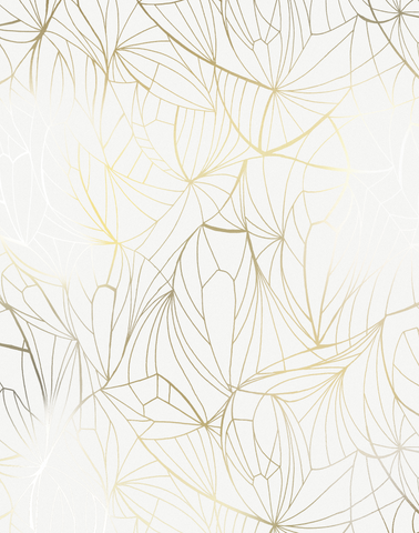 Leaf, Gold & White