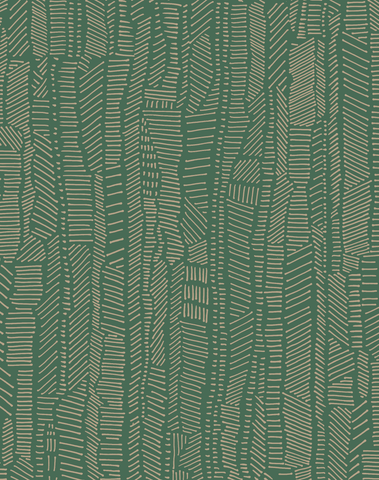 Linear Field, Gilt Green